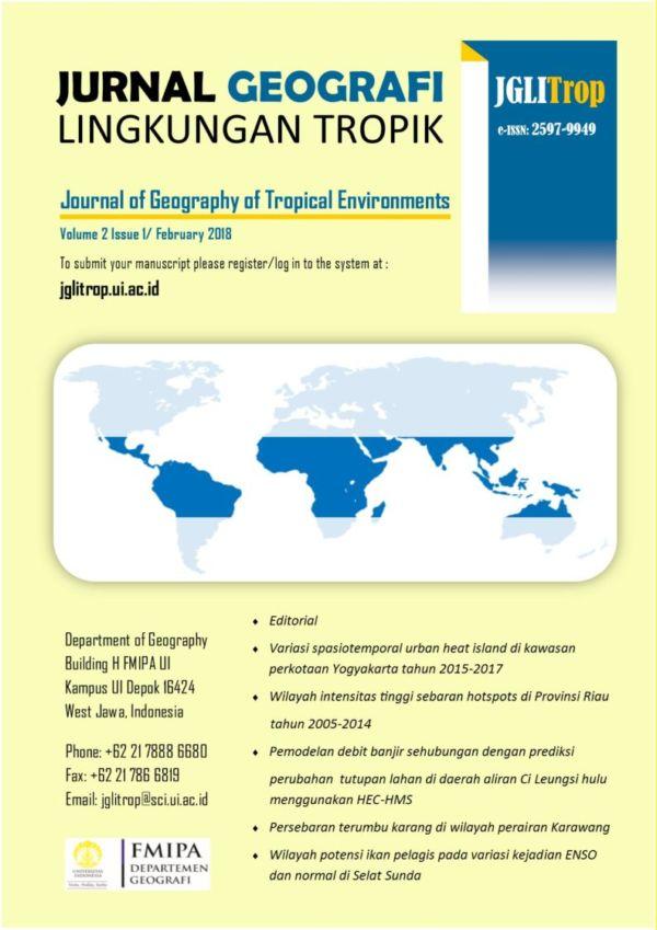 Jurnal geografi Lingkungan Tropik Vol.2, No.1, February